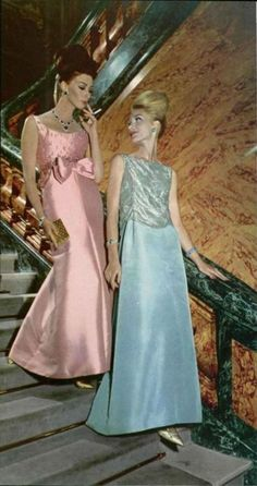 Christian Dior & Pierre Cardin Gowns - 1962  L'Officiel De La Mode - 487-488    L'Officiel De La Mode - 487-488