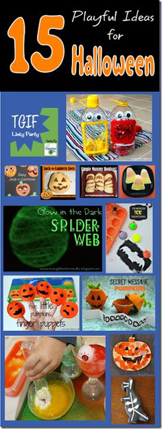 15 Playful Ideas for Halloween from 123 Homeschool 4 Me