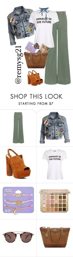 """Happy Earth Day to my Females of the Future!"" by remysg21 on Polyvore featuring J Brand, Alice + Olivia, Jessica Simpson, Topshop, claire's, Oliver Peoples, Bandana and Charlotte Russe"