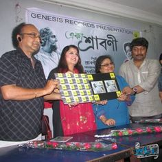 Pallabi Chatterjee was all smiles and she posed readily for photographs at the event. The actress in a red and black combination salwar suit looked glamorous. : http://www.washingtonbanglaradio.com/content/94815313-new-audio-music-album-launch-eka-shraboni-tagore-songs-again-presented-new-way