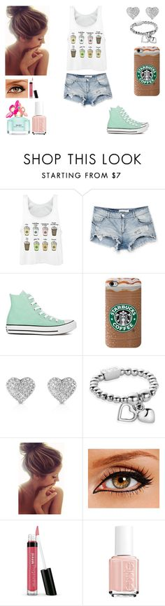 """Common white girl tag in description"" by a-hopeless-dreamer-xo ❤ liked on Polyvore featuring Bershka, Converse, Michael Kors, ChloBo, Bare Escentuals, Essie and Marc Jacobs"