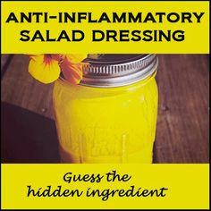 Anti-Inflammatory Turmeric Dressing - tumeric, salt, pepper, garlic powder, dried dill weed, honey, vinegar, olive oil   this is delicious!!!