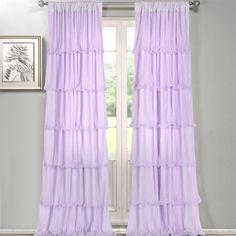 Shop for The Gray Barn Pasanen Ruffled Curtain Panel. Get free delivery On EVERYTHING* Overstock - Your Online Home Decor Outlet Store! Window Panels, Window Curtains, Ruffle Curtains, Blackout Curtains, Other Rooms, Home Decor Outlet, Color Schemes, Girls Bedroom, Bedroom Ideas