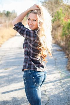 (Fitness Model Amanda Adams - Cat and Zach Photography) Jeans, country, blonde hair, photo shoot. www.AmandaAdams.com