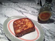 Leo's Nutella French Toast!! Nutella French Toast, Mario Batali, Tummy Yummy, Breakfast Smoothies, Nom Nom, Deserts, Brunch, Sweets, Baking