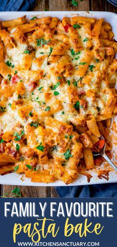 This is my family favourite pasta bake with chicken and bacon! Sometimes I'll add courgette or kale into the recipe, too! If I'm being extra sneaky I might add some finely chopped mushroom too (I'm the only mushroom lover in our house - but they all eat mushrooms if they can't identify them. #chickenpastabake #comfortfood #pastabake #cheesypastabake #bacon #chicken #OnePotMeals #PastaBake Pasta Dishes, Food Dishes, Pasta Dinner Recipes, Pasta Meals, Cheesy Pasta Bake, Perfect Pasta Recipe, Slimming World Chicken Recipes, Easy Weeknight Meals, Easy Dinners