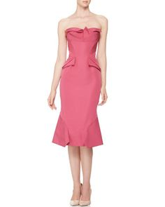 Strapless Origami-Fold Dress by Zac Posen at Bergdorf Goodman.