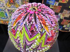 Fabric covered ornament - picture only. Love it!