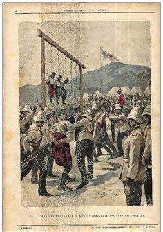 Italian view of the the execution of rioters involved in the murder of British troops or citizens.