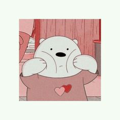 Dear Pink lover, make me this day … Bear Wallpaper, Kawaii Wallpaper, Disney Wallpaper, Ice Bear We Bare Bears, We Bear, Cartoon Icons, Cartoon Memes, Cartoons, Bear Cartoon