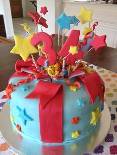 Birthday Cakes for Him | Bursting stars Birthday cake for Him