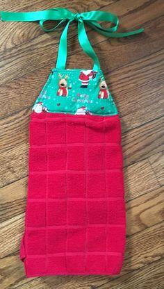 Christmas Hanging Towel, Tie Kithen Towel, Tie Hanging Towel, Dish Towel, Tea  Towel, Kitchen Towel, Hanging Dish Towel, Christmas Decor