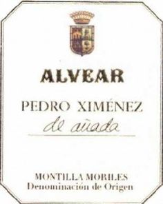 2008 Alvear Pedro Ximenez (PX) de Anada sherry.