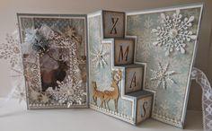Christmas Stairs Fold Card Tutorial