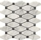 Carrara (Carrera) Bianco Polished Long Octagon Bardiglio Gray Dot Marble Mosaic