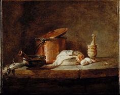 Chardin. cuivre et poêlon