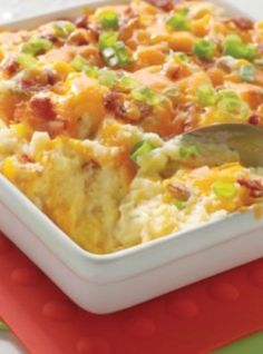 Healthy Baked Potato Casserole. Try out this easy and healthy potato casserole recipe today with Grand Bend Produce potatoes.