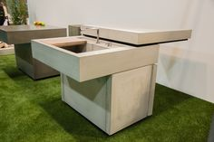 Messeauftritt #Blühendes Österreich in Wels-Concreto Concrete, Outdoor, Table, Design, Furniture, Home Decor, Wels, Shelf, Lawn And Garden
