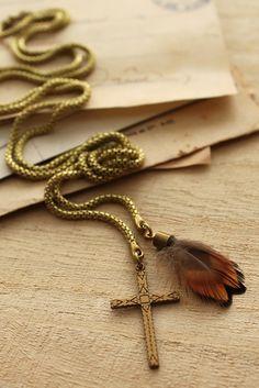 Feather & Cross - both symbolising new life!