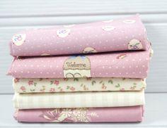 Fabric Fat Quarter Bundle 5 Gutermann Country Chic by GreenCallow