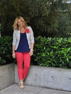 coral and navy