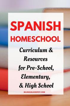 List of Spanish Homeschool Curriculum Language Study, Spanish Language Learning, Learn A New Language, Teaching Spanish, Teaching Kids, Writing Resources, Learning Resources, Homeschool Curriculum, Homeschooling