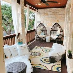 Provide Your House a Transformation with New House Design – Outdoor Patio Decor Decor, House Design, Patio Chairs, Front Porch Decorating, Patio Decor, Outdoor Patio Decor, Home Decor, Apartment Decor, Apartment Balcony Decorating