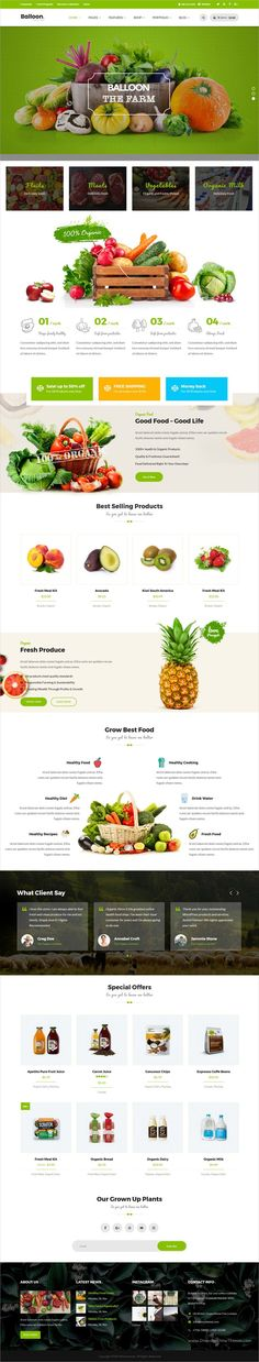 Balloon is a wonderful 3in1 responsive #WordPress theme for #organic farm and #food business #eCommerce websites download now➩   https://themeforest.net/item/balloon-organic-farm-food-business-wordpress-themes/19117247?ref=Datasata