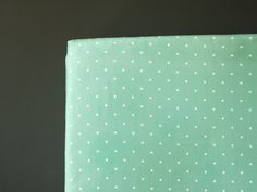 Mint crib sheet - Polka Dot in Mint- gender neutral - nursery fitted sheet- toddler bed sheet