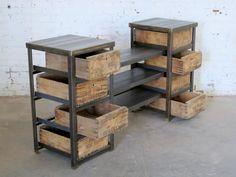 angle iron display crates