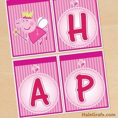 peppa pig banner FREE Printable Princess Peppa Pig Birthday Banner