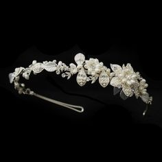Mella Ivory Pearl Wedding Bridal Headband Tiara ** Want additional info? Click on the image.(This is an Amazon affiliate link and I receive a commission for the sales)