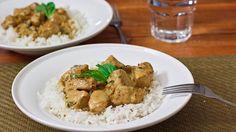 Basil pollo en salsa de curry de coco-1-2