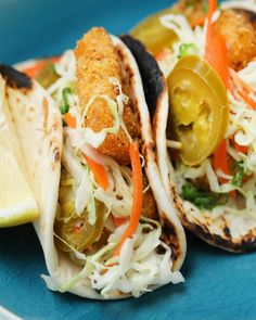 Spicy Fried Fish Tacos