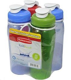 Rubbermaid Refill Reuse 20Ounce Chug Bottle 1 Pack of 4 Assorted bottles >>> Visit the image link more details. Note:It is affiliate link to Amazon.
