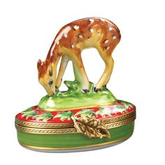 Christmas fawn. Limoges