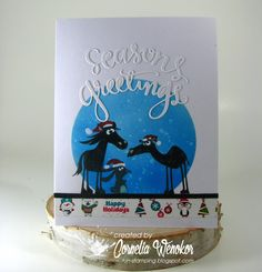 Cornelia Wenokor:  Cats on Appletree stamps;  Simon Says Stamp die (sentiment); Washi Tape
