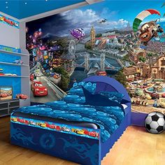 Disney Pixar Cars World Wallpaper Mural >>> Click on the image for additional details.