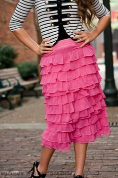 Perfect Pink Ruffled Skirt from daintyjewells! Looooove it