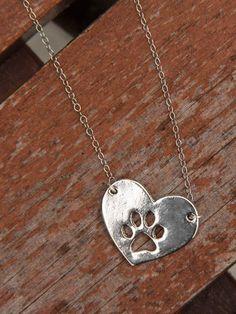 Puppy Honey - Silver Heart Paw
