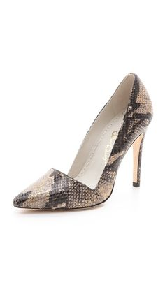 a5d650e964d7 alice + olivia Dina Snake Pumps Pretty Shoes