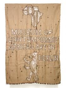 Museum of Contemporary African Art in Berlin, by Meschac Gaba. Gaba is a Beninese artist (b. who divides his time btween rotterdam and Cotoneu, Benin, his place of birth. Relational Art, Desk Cover, Contemporary African Art, African Artists, Wooden Shelves, Rotterdam, Birth, Berlin, Street Art