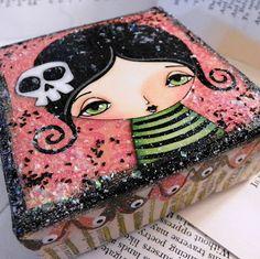 chunky canvas + glitter-by Megan Suarez