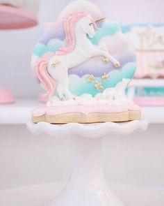 Unicorn cookie from a Magical Unicorn Birthday Party on Kara's Party Ideas   KarasPartyIdeas.com (9)
