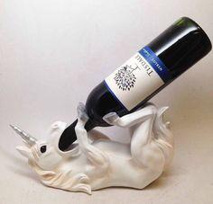 Ebros Wine of Sacred Purity Unicorn Wine Holder Figurine Kitchen Decoration Mystical Unicorn Glade Statue Real Unicorn, Rainbow Unicorn, Unicorn Party, Unicorn Decor, Unicorn Fantasy, White Unicorn, Unicorn Gifts, Objet Wtf, Unicorn Ornaments