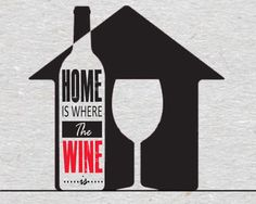 Wine Quote - Home is where the wine is #wine #winequote #quotes