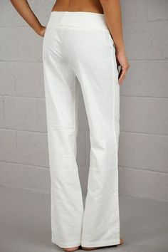 White Linen Pants for Juniors