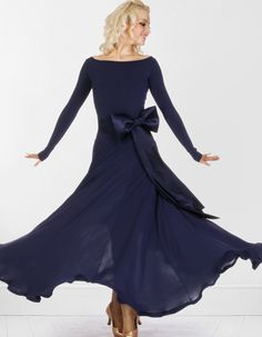 DSI Bow Ballroom Dress | Dancesport Fashion @ DanceShopper.com