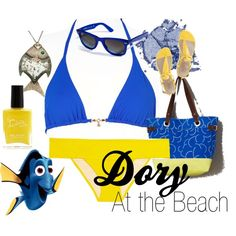 A fashion look from May 2013 featuring royal blue bikini bottoms, halter swimsuit tops and flat heel sandals. Browse and shop related looks. Halter Top Swimsuits, Swimwear, Disney Inspired Fashion, Disney Fashion, Royal Blue Bikini, Blue Bikini Bottoms, Finding Nemo, Disneybound, New Wardrobe