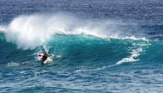 The Pass at Byron Bay - our mate John ripping it up on his Challenge Kayak